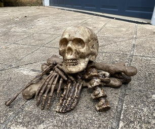 How to Turn a Dollar Store Skeleton Into a Realistic Prop Easily