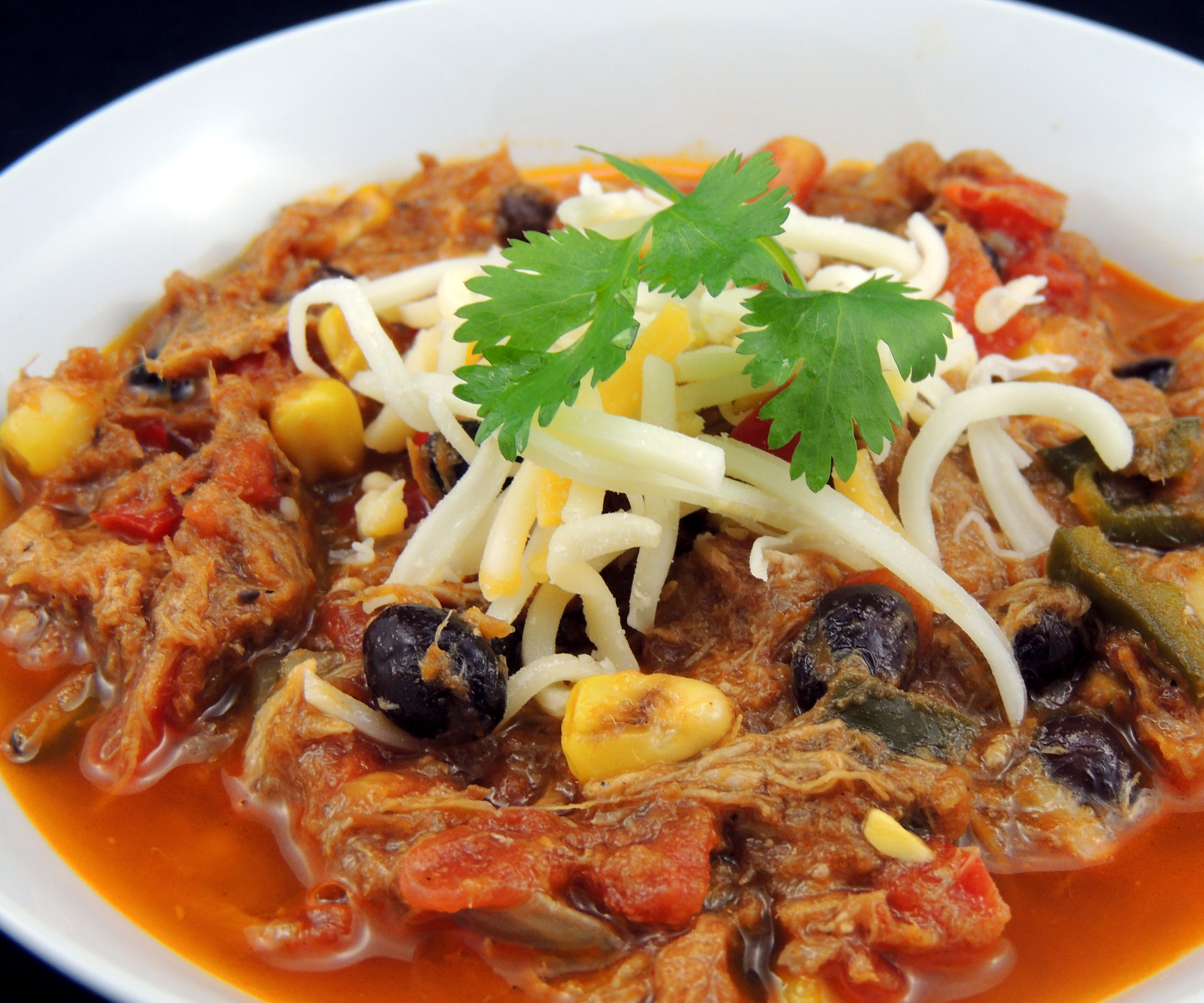Mexican Pulled Pork Chili