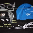 Watertight iPod shuffle for pool lap swimming