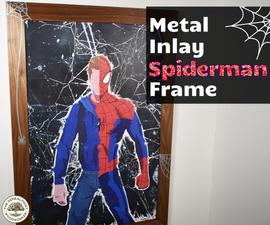 Metal Inlay Spiderman Frame