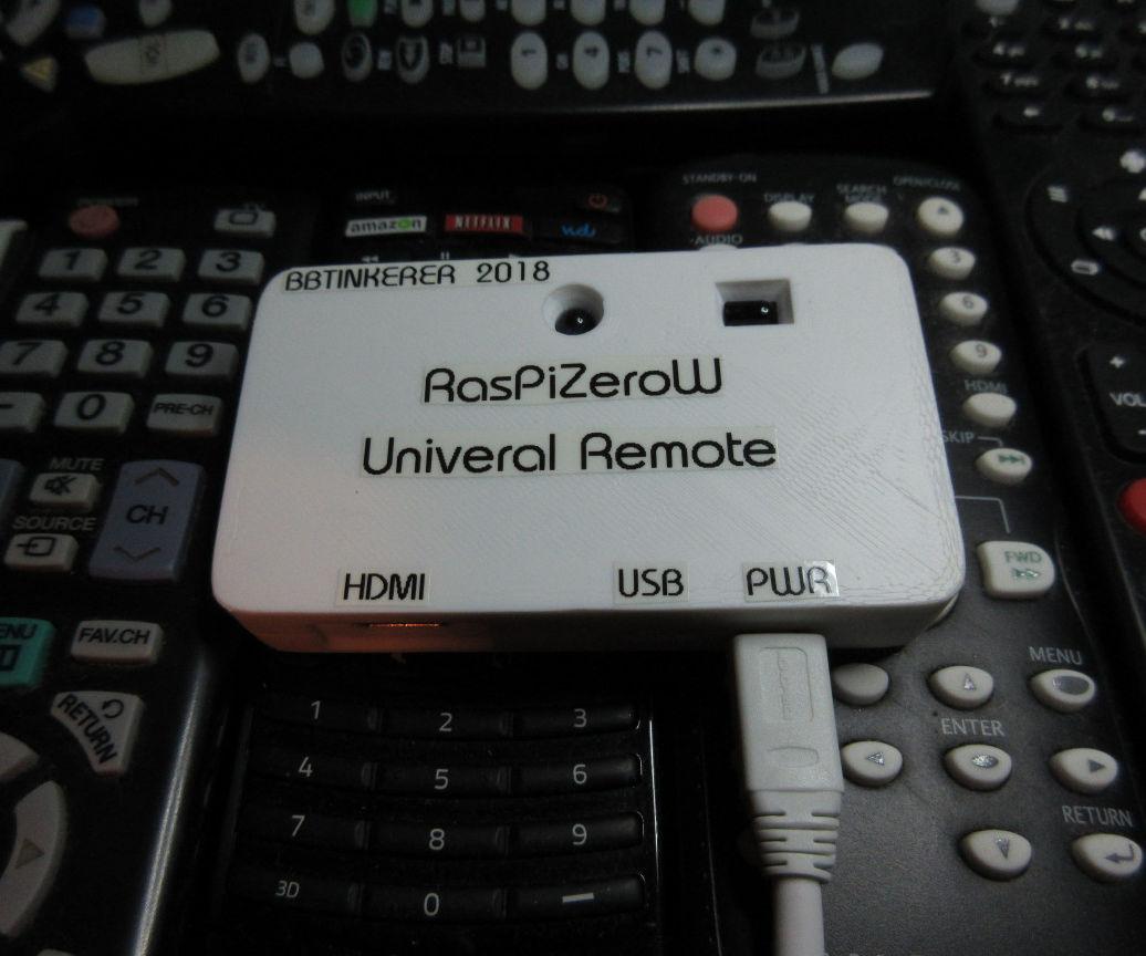 Raspberry Pi Zero Universal Remote