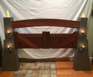 Jurassic Park Gate Headboard