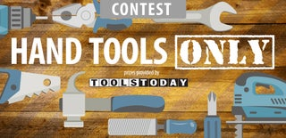 Hand Tools Only Contest 2016