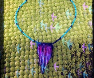 DIY Reversible Straw Statement Necklace !