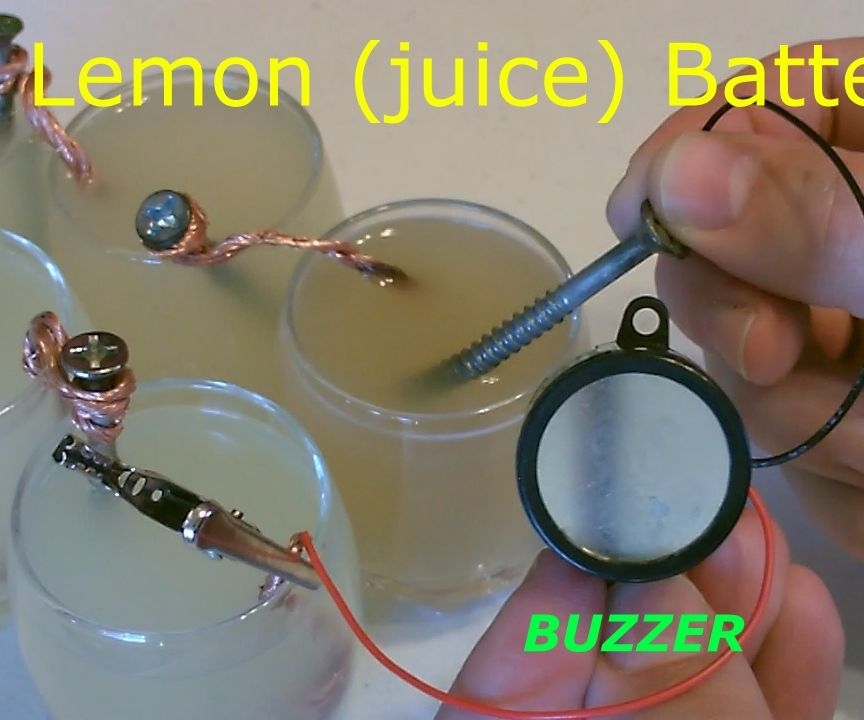 Homemade (lemon Juice) Battery! Powers Electric Buzzer and More! Lemon Battery - Easy DIY