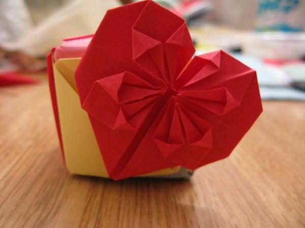 Simple Decorative Origami Heart / Book Mark