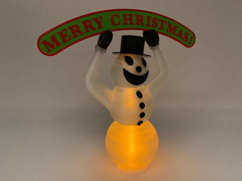3D Printed Snowman Tea Light