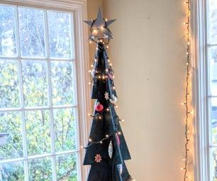 可持续的木制圣诞树