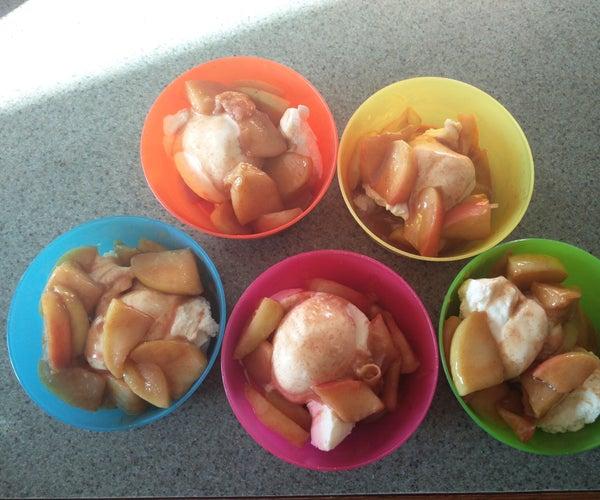 15 Minute Caramel Apple Dessert