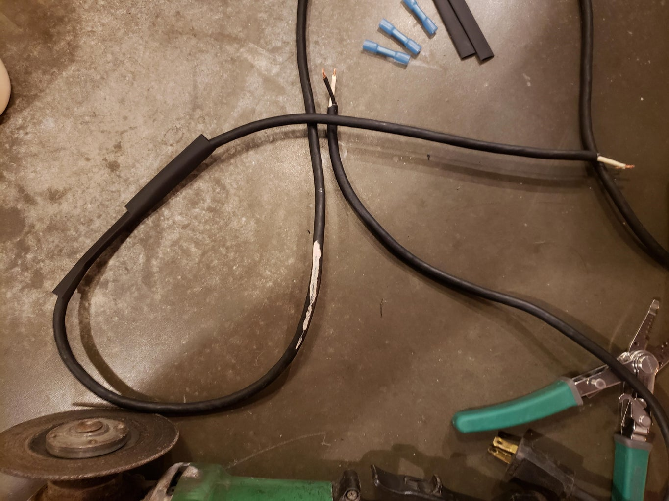 Put on 2, Yes 2, Full Size Pieces of Your Heat Shrink Tubes
