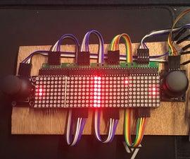 Pong Tennis With LED Matrix, Arduino and Joysticks