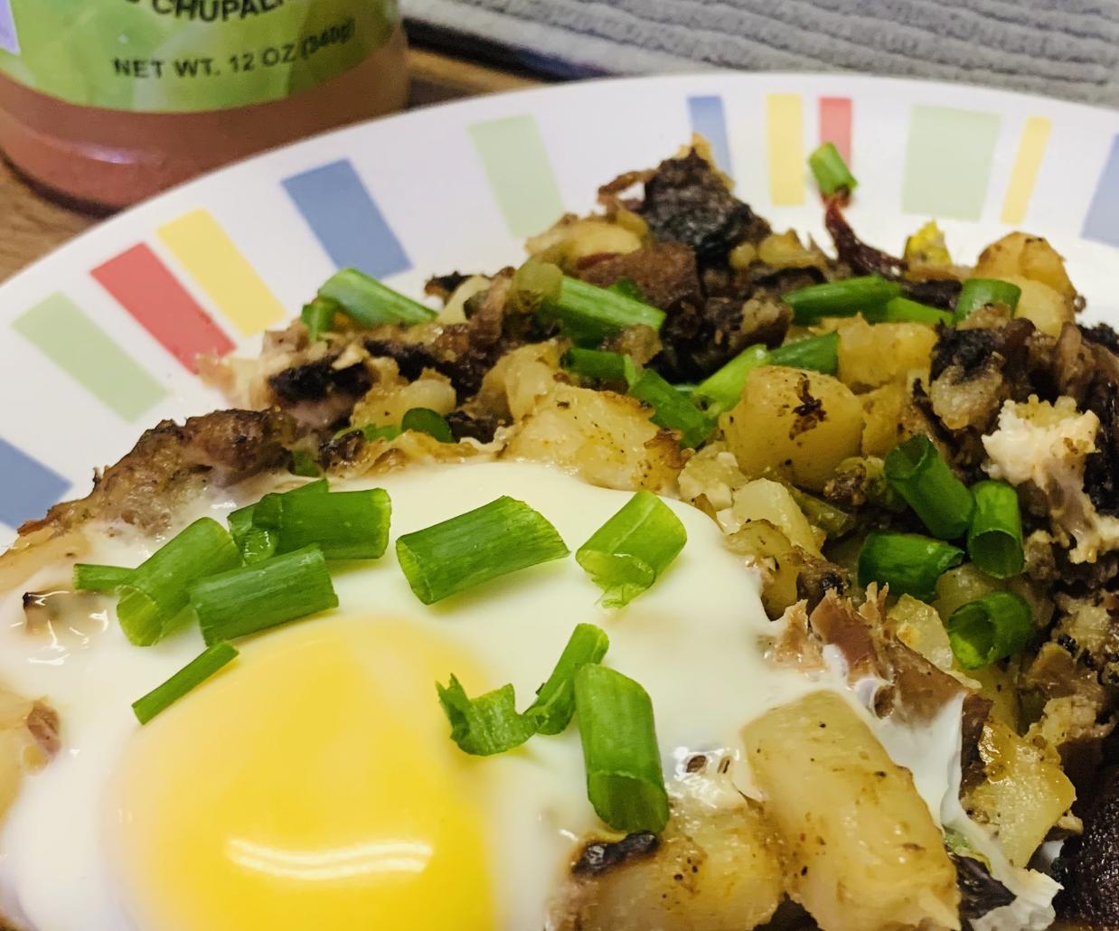 Leftover Brisket Potato Hash