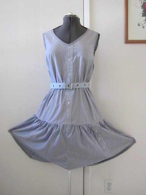 Sun dress  made from 3 mens shirts