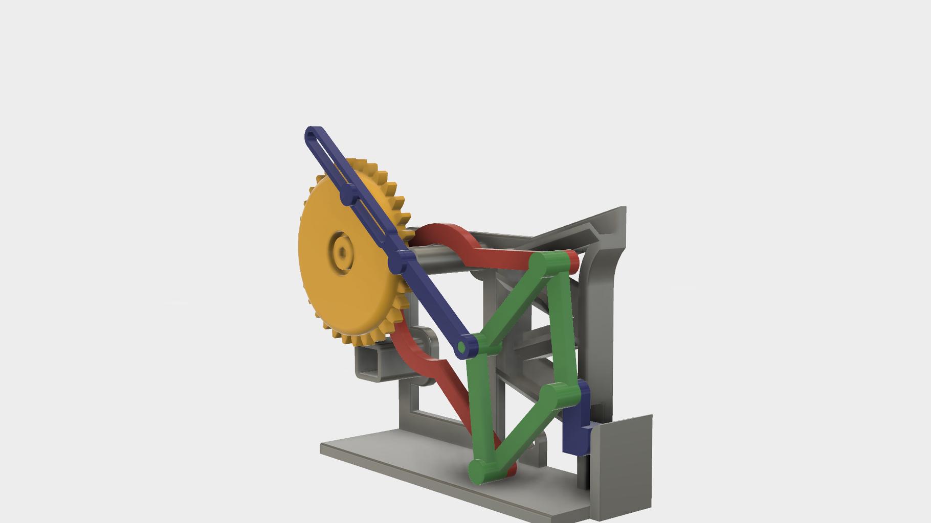 Attach the Mechanisms to Wheel, Geared (64 Teeth).stl.
