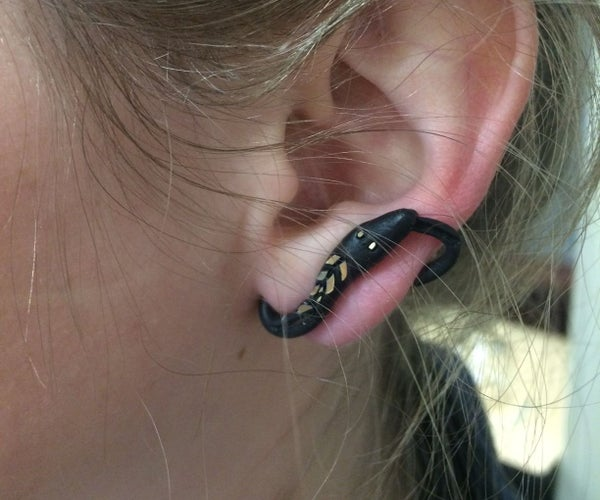 Get Fashion-y With Sugru! (Clip-on Snake Earrings)