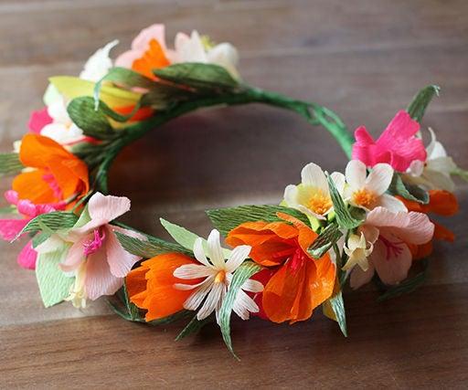 Homemade Flower Hat