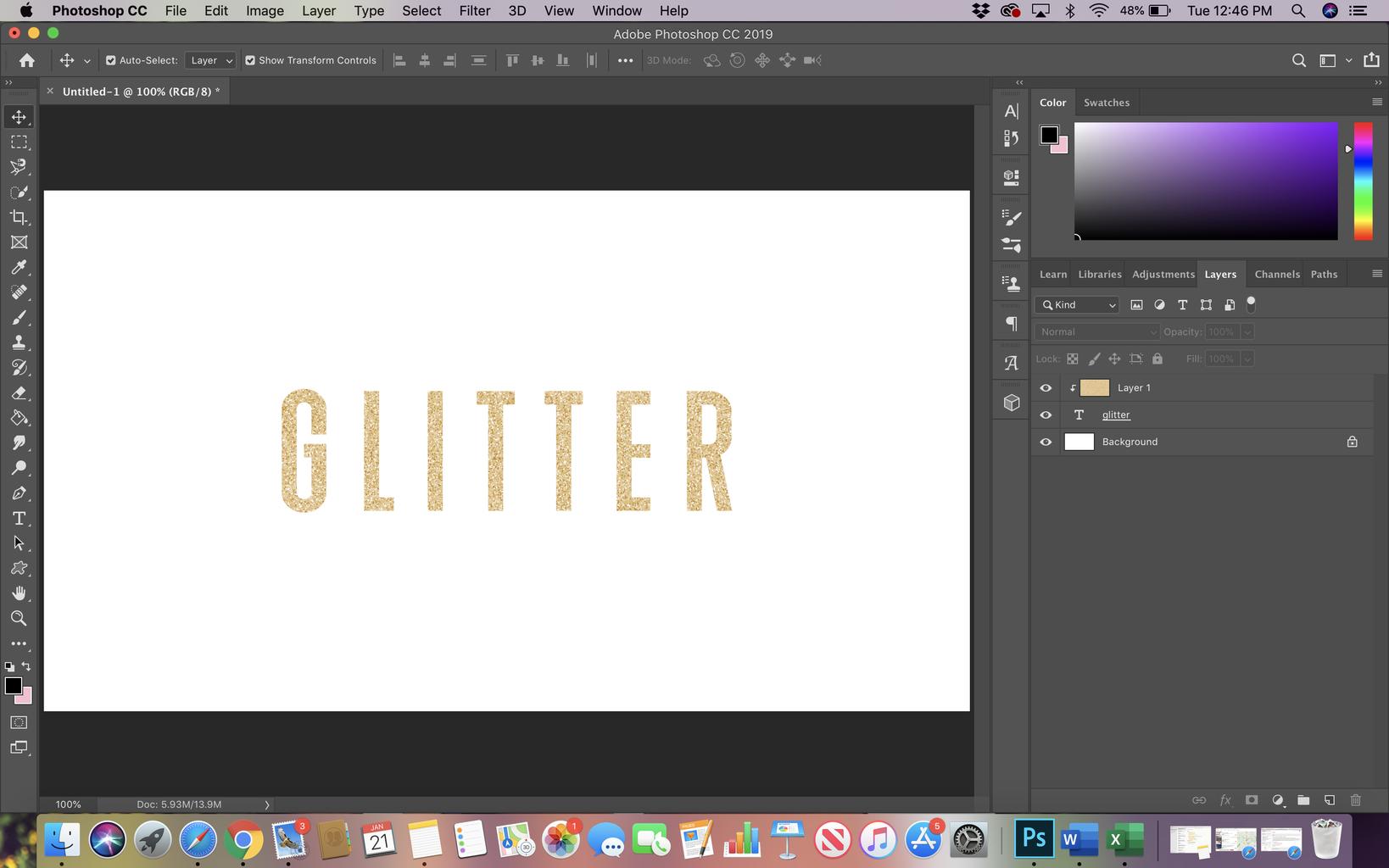 Glitter Text Tutorial in Photoshop