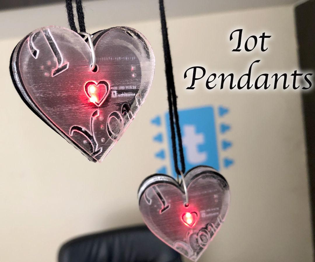 Connected Love Pendants Using ESP8266