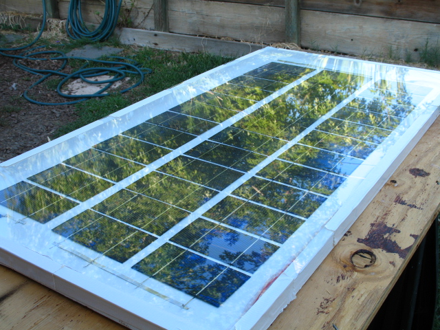 Homemade 63 Watt Solar Panel