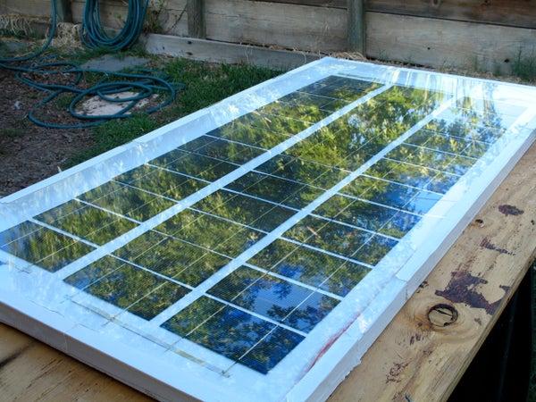 Homemade 63 Watt Solar Panel