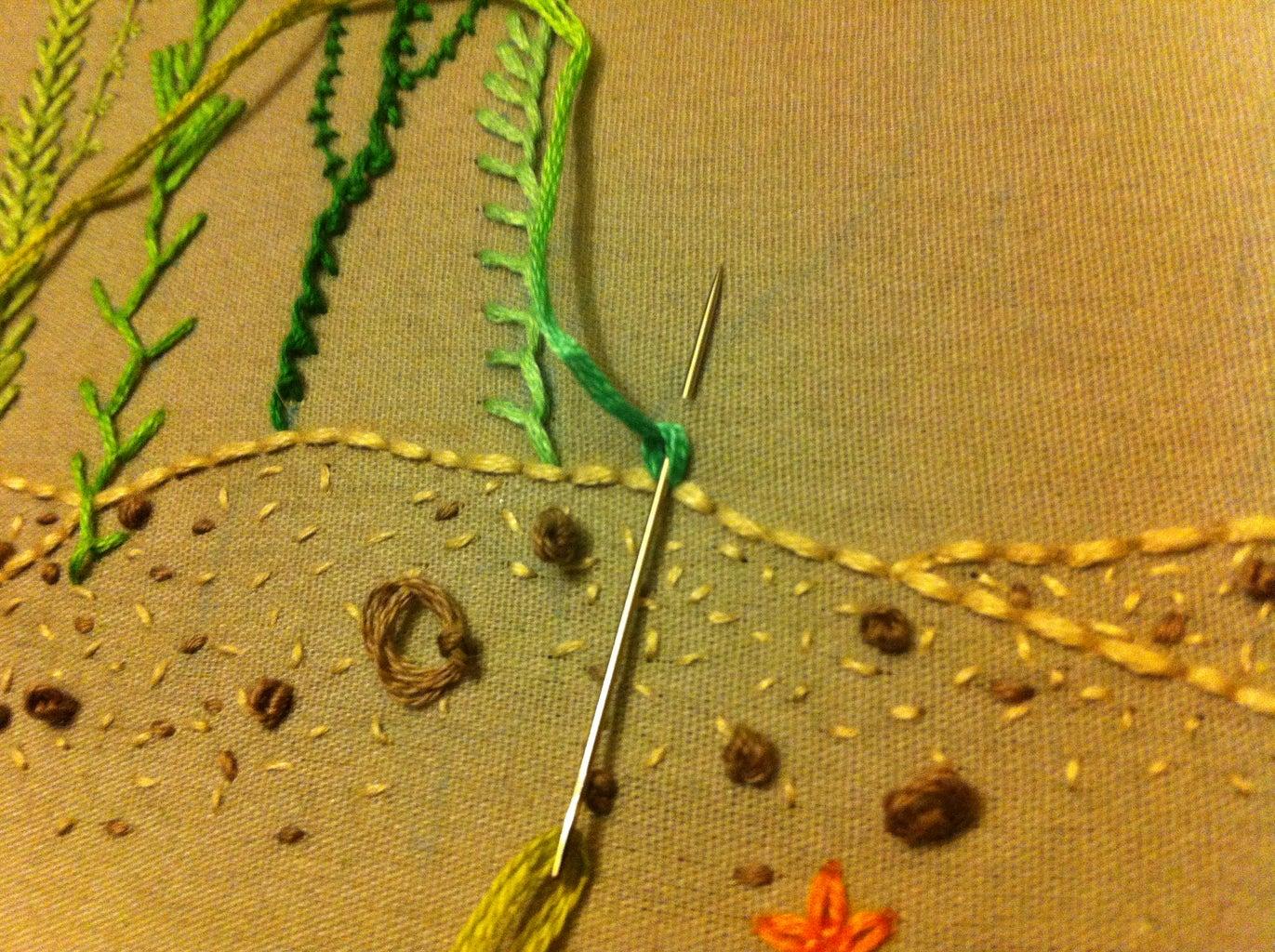 Chain Stitch, Petal Chain Stitch