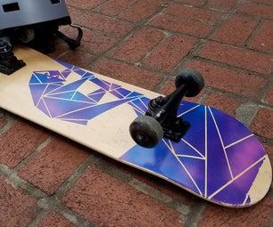 Galaxy Sloth Custom Skate Deck