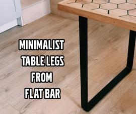 Minimalist Table Legs From Flat Bar