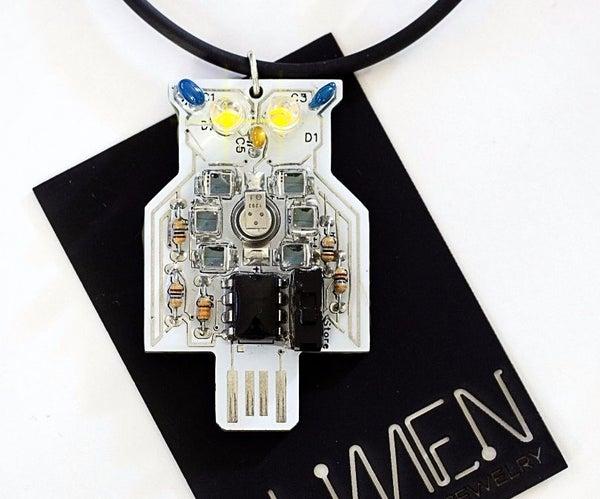 Solar Powered Owl Blinky LED Pendant Jewelry