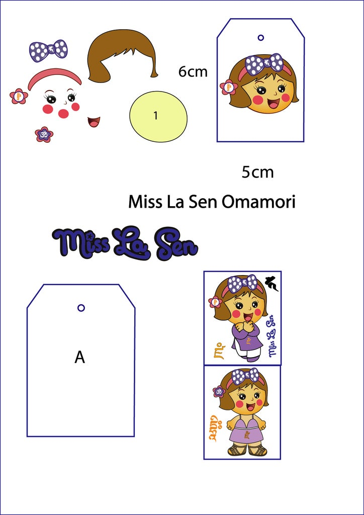 Download This Pattern for the Tiny Miss La Sen Omamori.