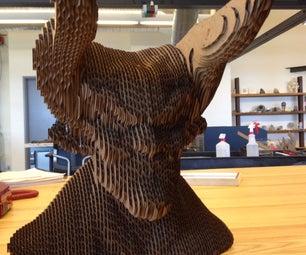 Making a Cardboard Devil With 123D Make