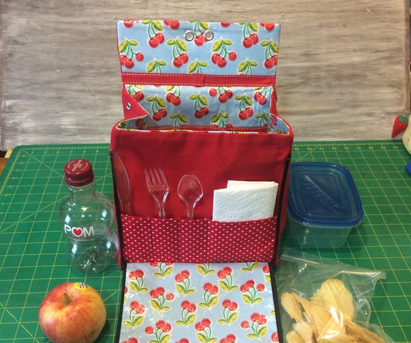 Lunch Bag With Zip Down Placemat
