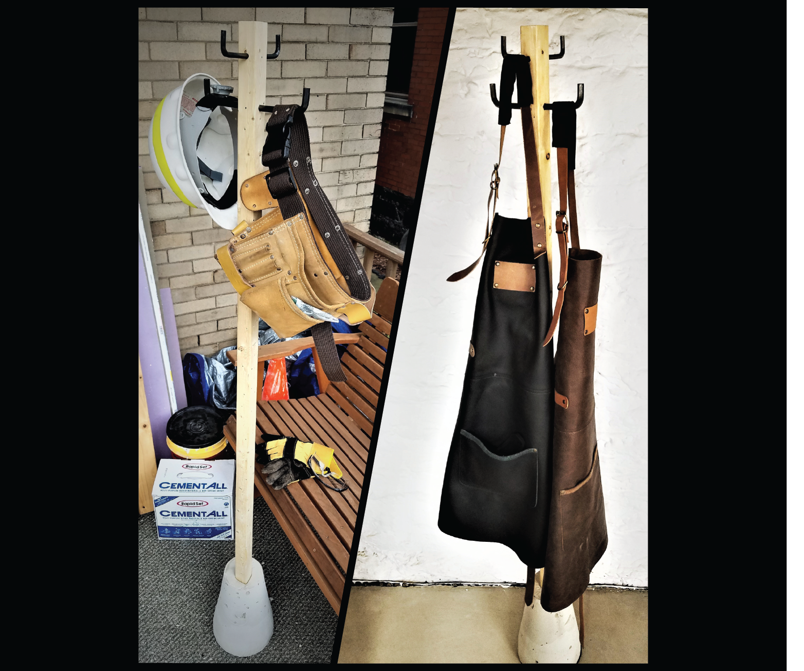 Industrial Freestanding Coat Rack