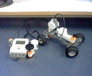 Lego Nxt Steering Car + Remote Control.