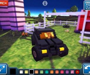 Blocky Roads Batmobile (Minecrafty Driving Game)