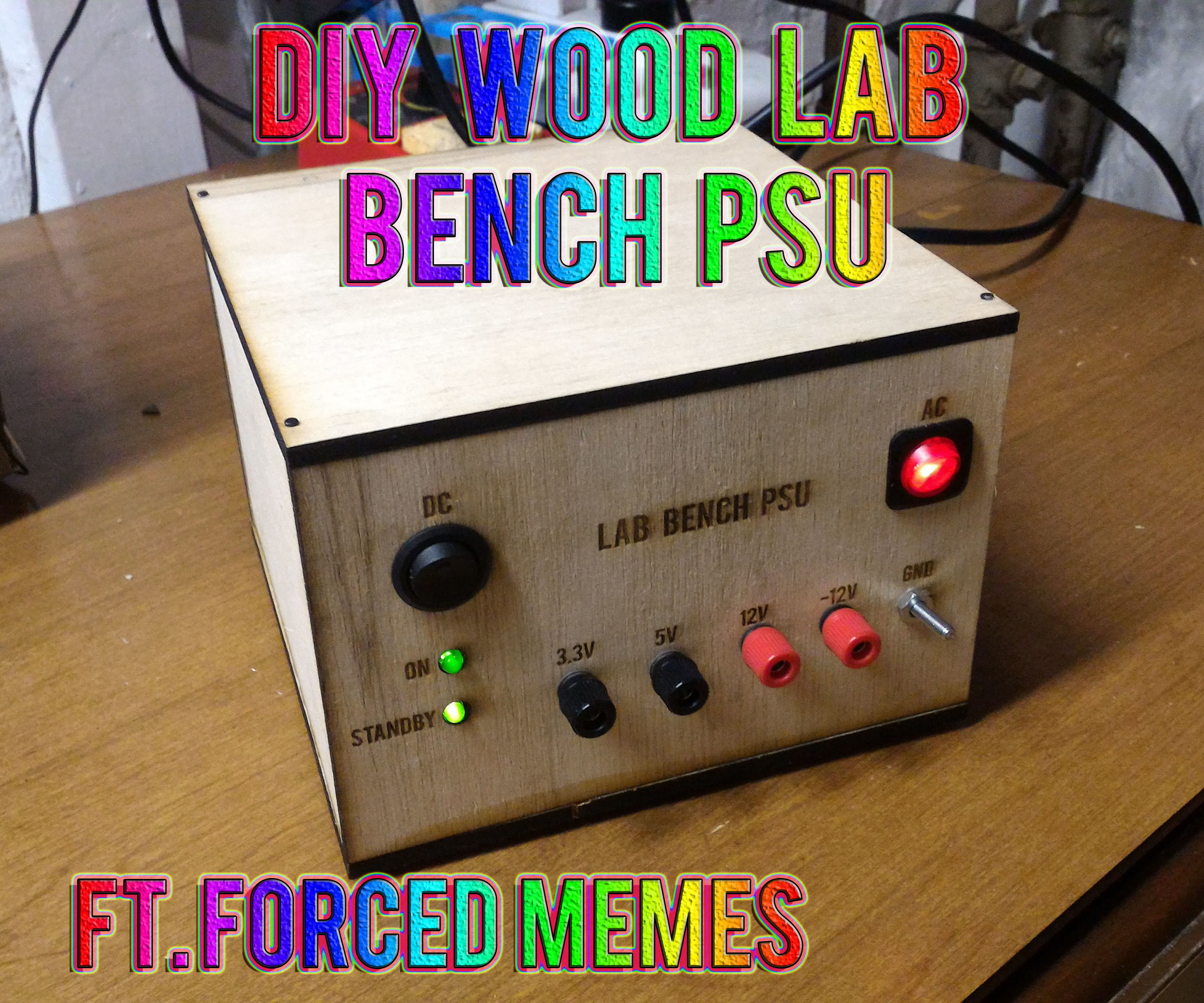 DIY ATX Wood Lab Bench PSU