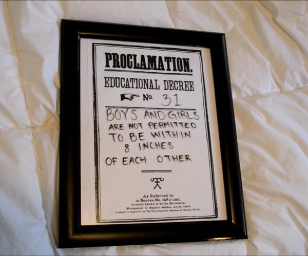 Harry Potter Dry Erase Proclamation DIY | CassKnowlton