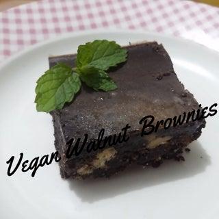 Vegan Walnut Brownies