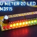 Simple 20 LED Vu Meter Using LM3915