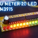 Simple 20 LED Vu Meter Using LM3915