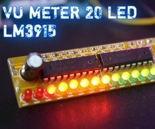 使用LM3915简单的20 LED VU仪表