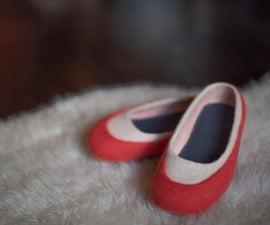 Merino Felted拖鞋 - 散步在云中
