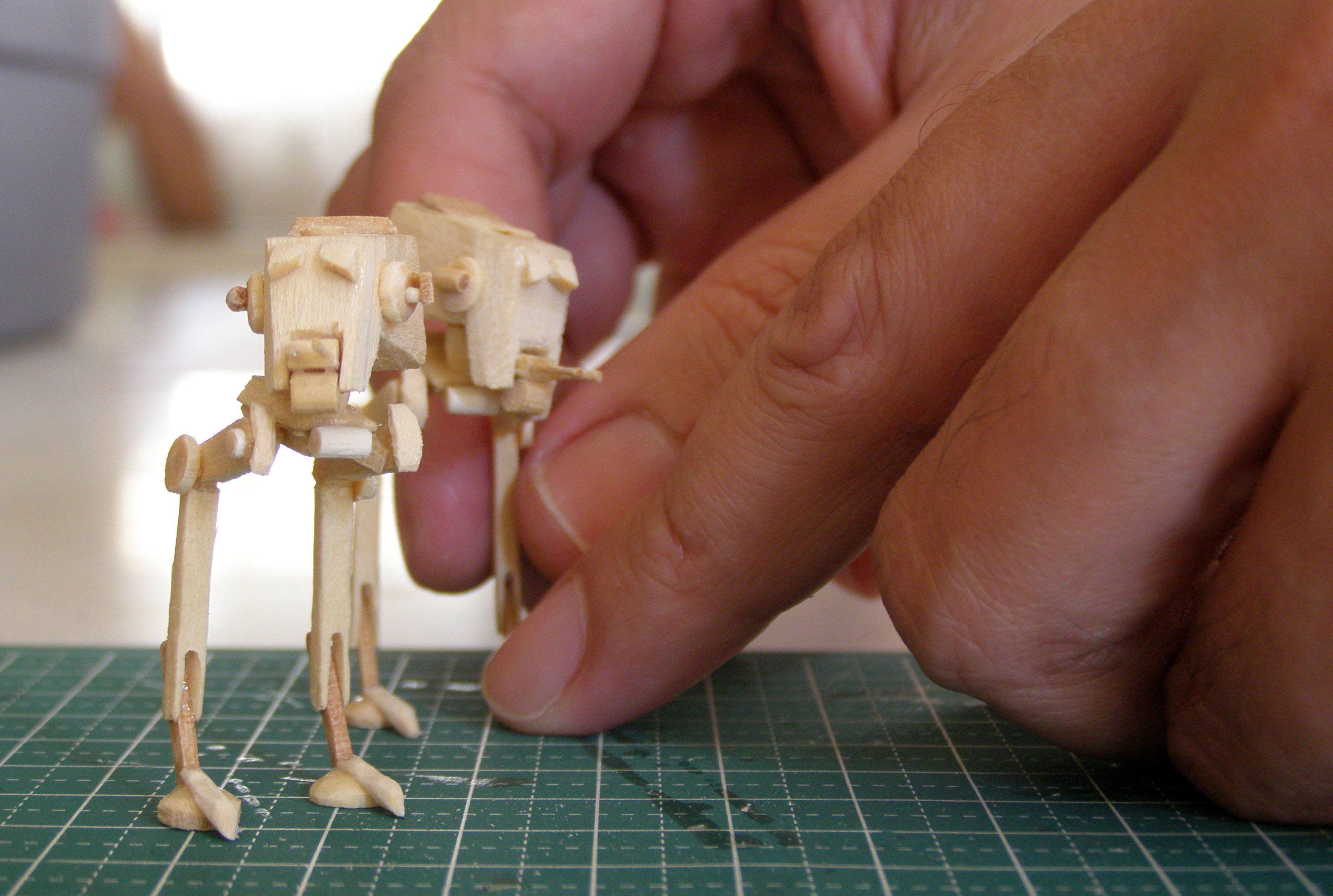 Mini AT-ST Popsicle Stick Model