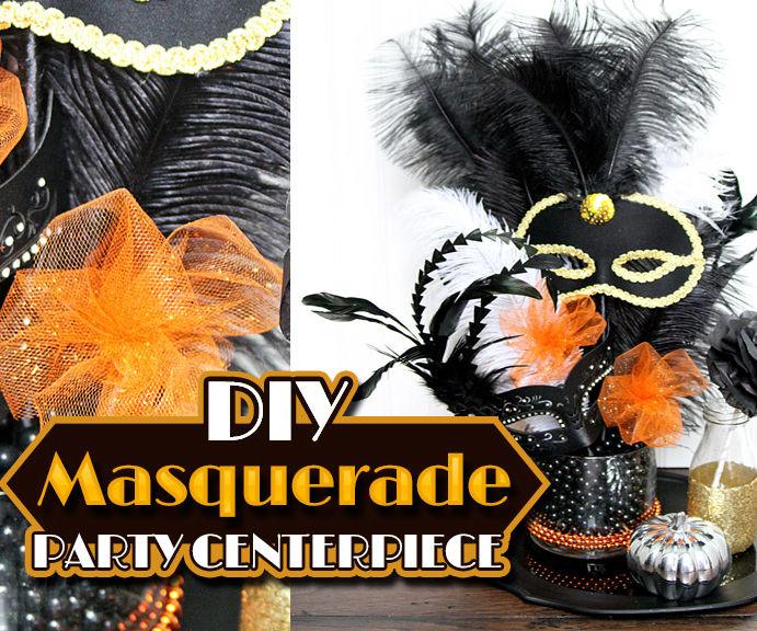 DIY Masquerade Party Centerpiece