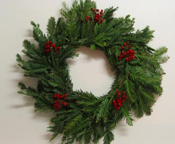 Home-made Rustic Christmas Wreath