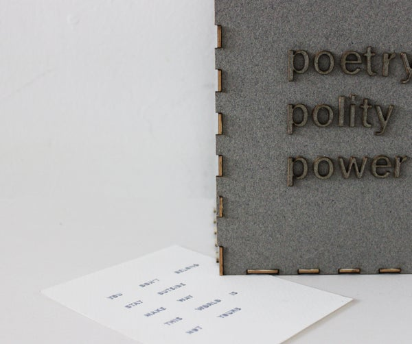 An Optimistic Poetry Generator: Using Thermochromic Pigment and Nichrome Heating Pads
