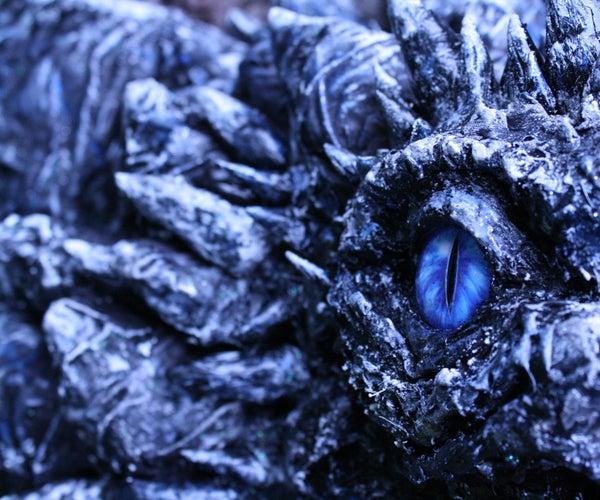 Vicious Paper Mache Dragon Mount