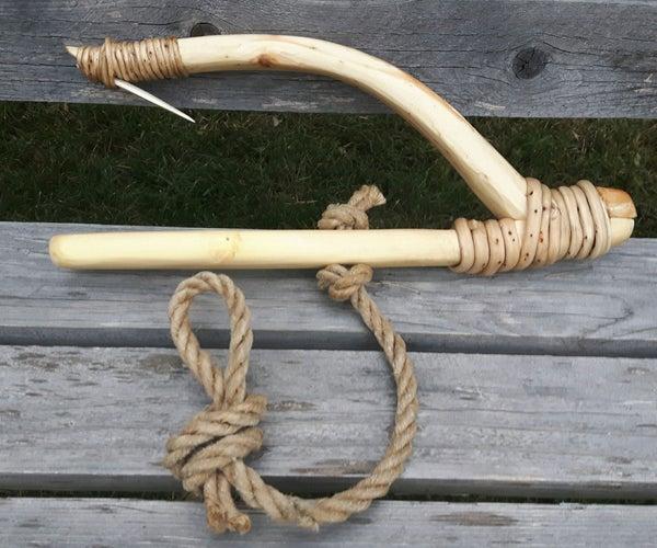 Handcarved Native American Halibut Hook