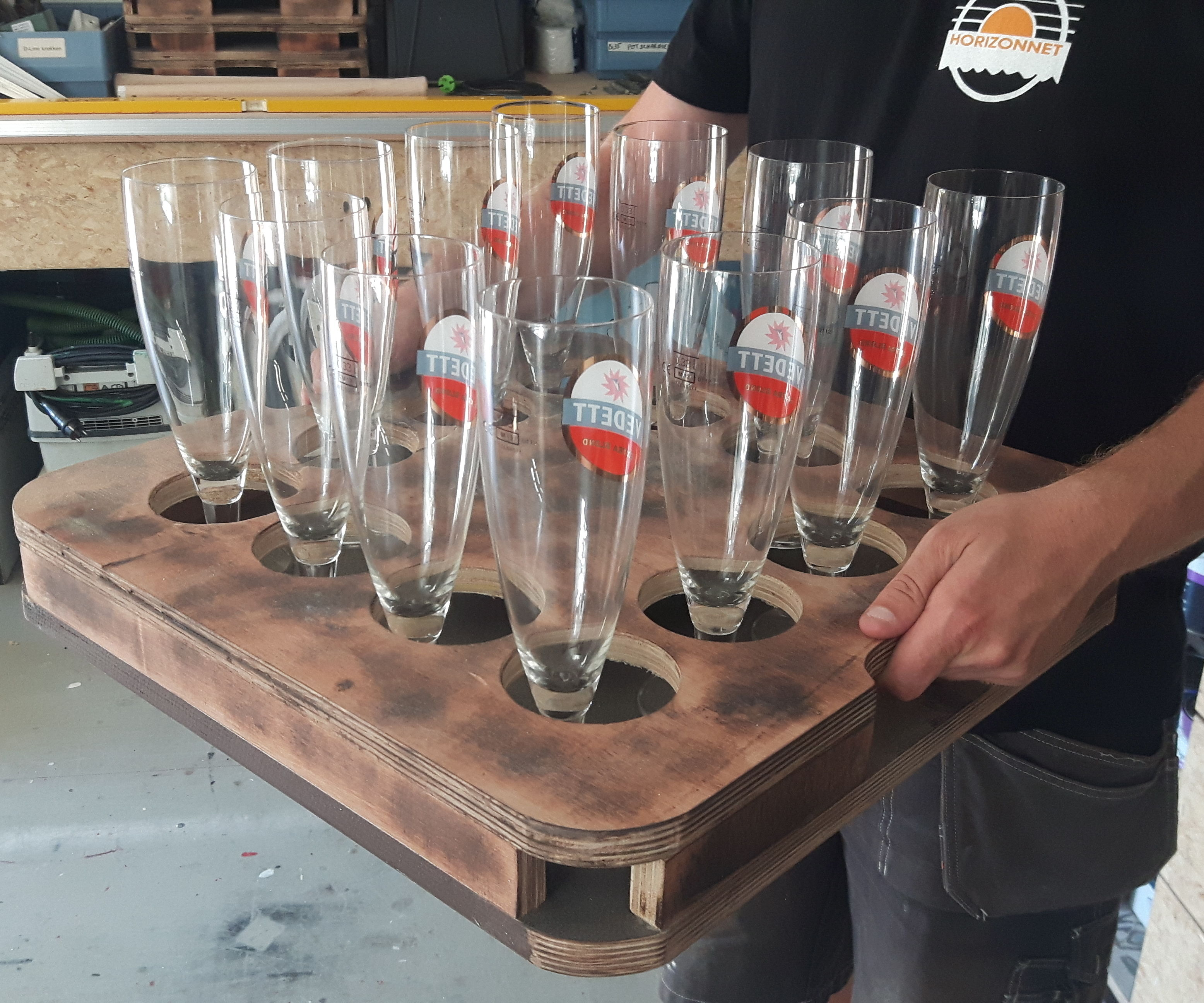 Idiot Proof Beer Serving Tray.