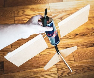 An RC Plane Made From a Red Bull