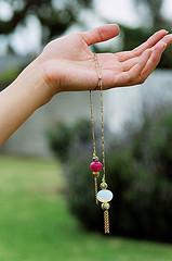 Moonstone Lariat Necklace DIY by Beadalicious Author, Sonya Nimri